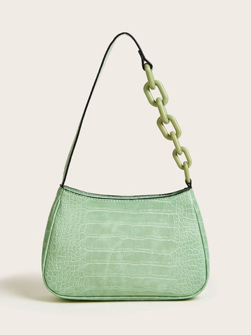 Croc Embossed Baguette Bag - FLJ CORPORATIONS