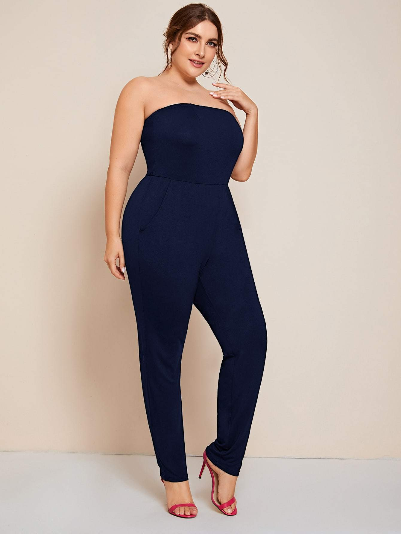 Plus Pocket Side Tube Jumpsuit - FLJ CORPORATIONS