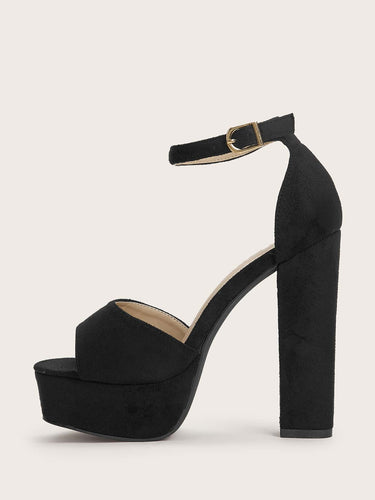 Ankle Strap Chunky Heels - FLJ CORPORATIONS