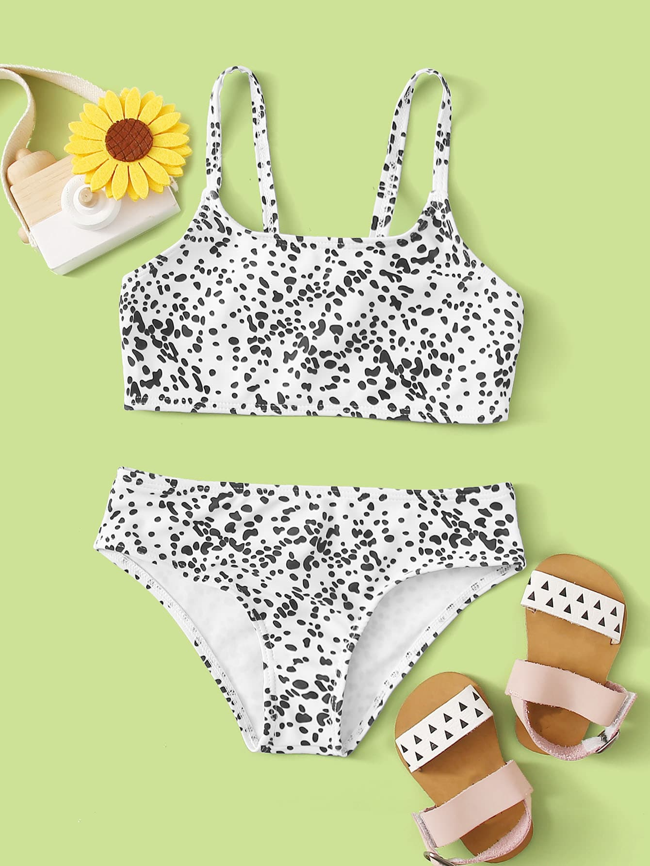 Toddler Girls Dalmatian Bikini Swimsuit - FLJ CORPORATIONS