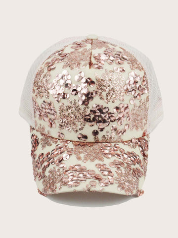 Sequins Decor Baseball Cap - FLJ CORPORATIONS