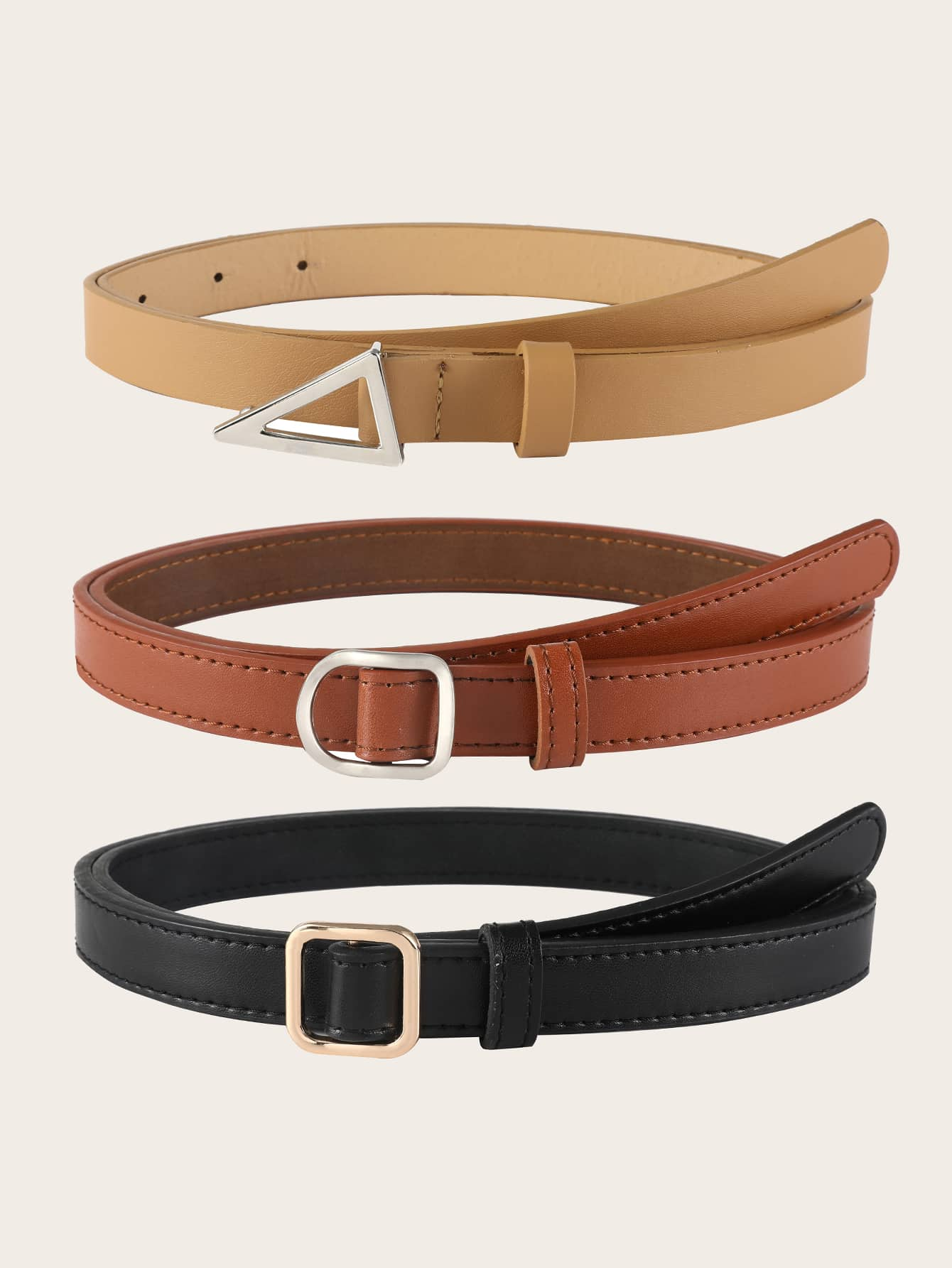 3pcs Geo Buckle Belt - FLJ CORPORATIONS