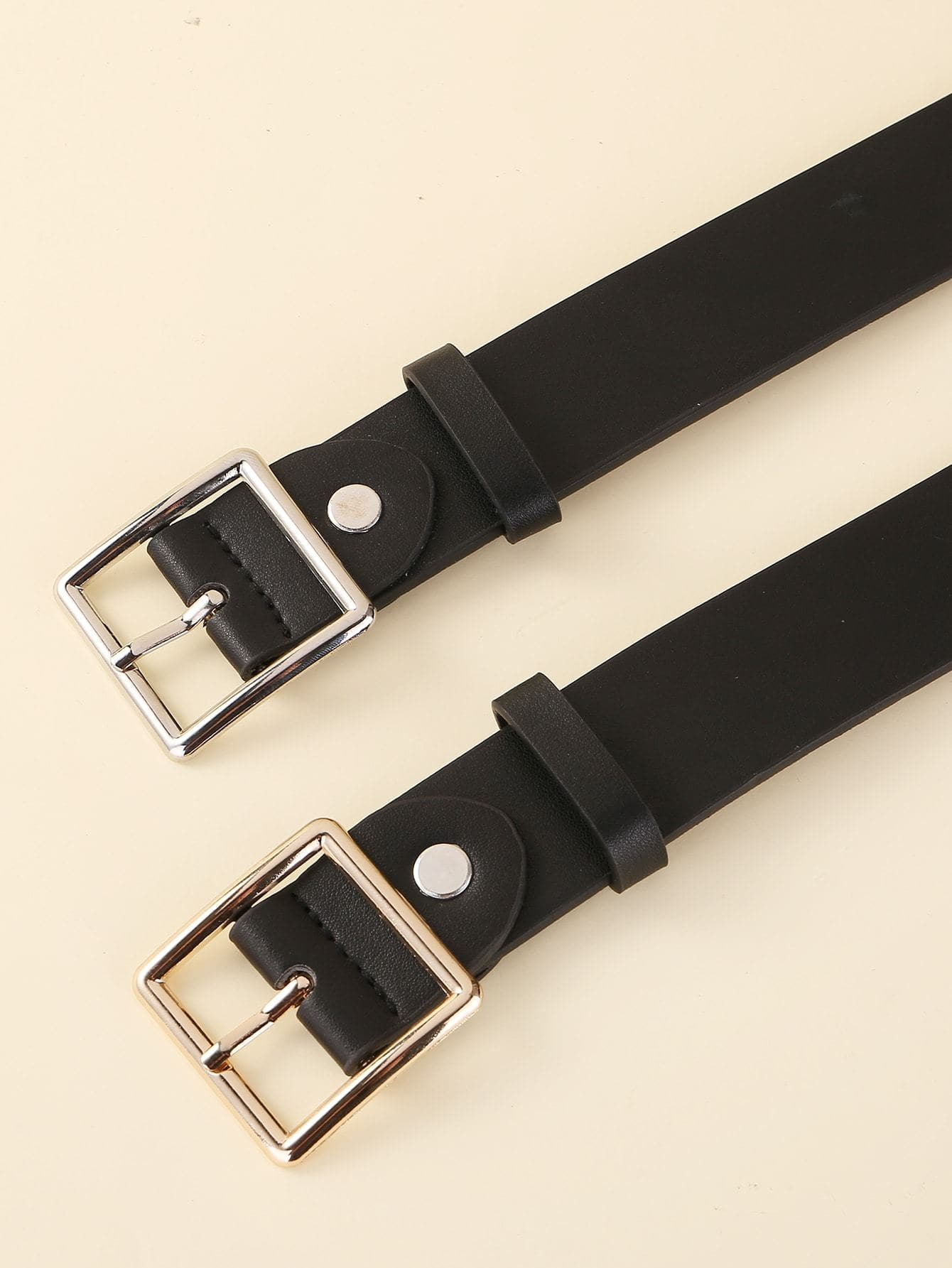 2pcs Vintage Square Buckle Belt - FLJ CORPORATIONS