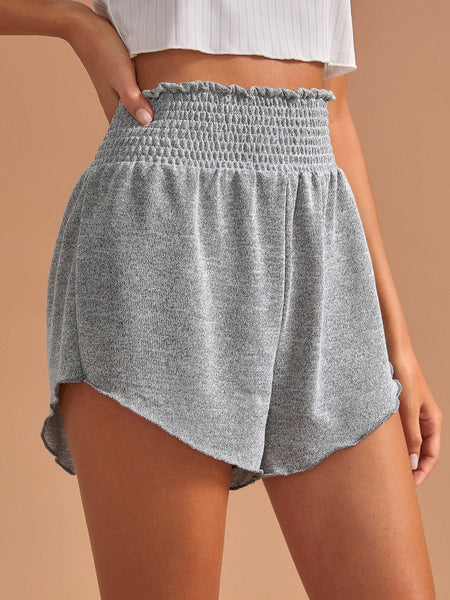 Shirred Elastic Waist Lounge Shorts - FLJ CORPORATIONS