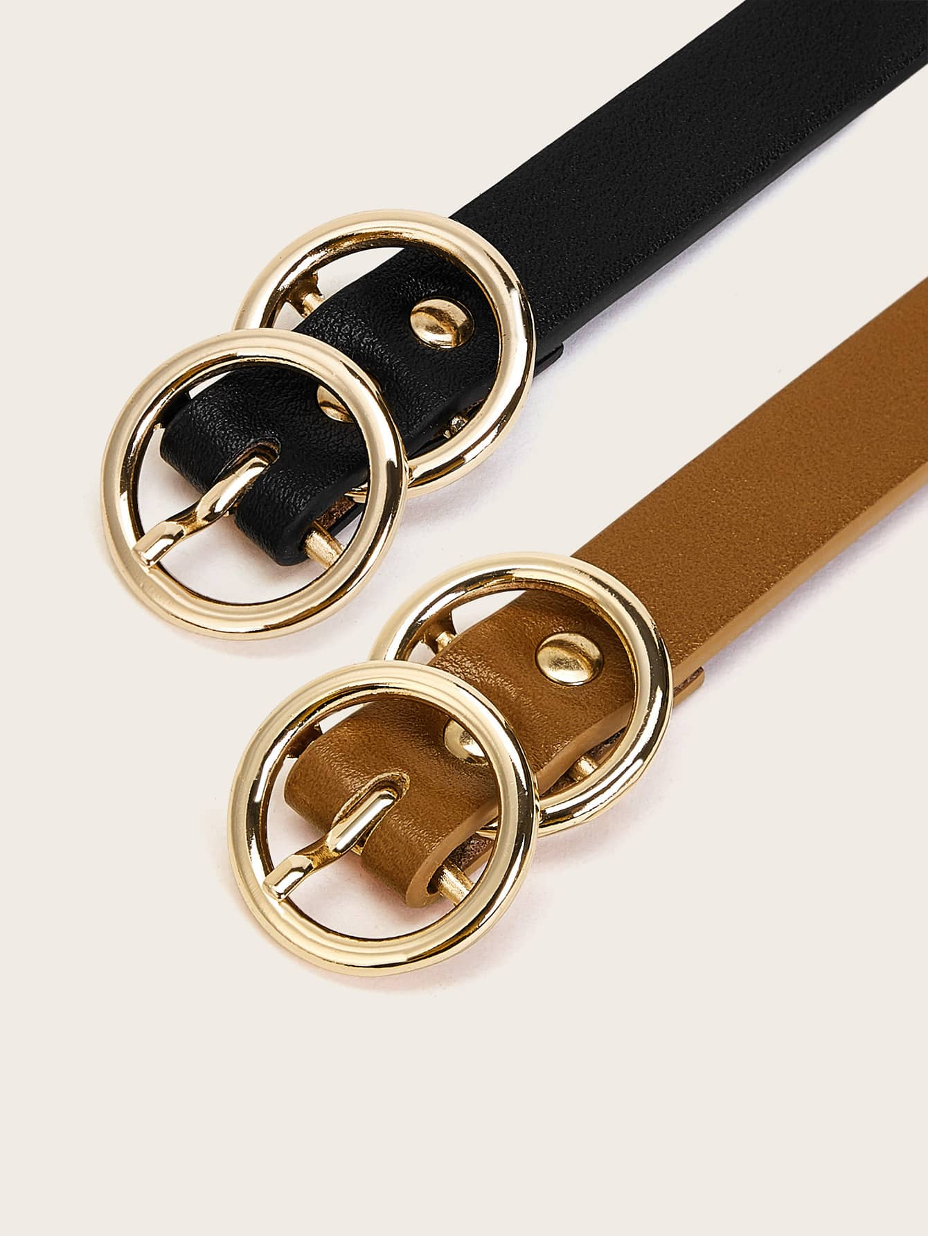 Double O-ring Buckle Belt 2pcs - FLJ CORPORATIONS