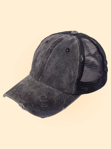Washed Mesh Baseball Cap - FLJ CORPORATIONS