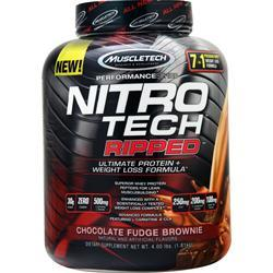 Muscletech Nitro Tech Ripped - Performance Series Chocolate Fudge Brownie 4 lbs - FLJ CORPORATIONS