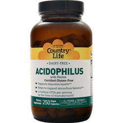 Country Life Acidophilus with Pectin 250 vcaps - FLJ CORPORATIONS