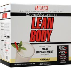 Labrada Lean Body Carb-Watchers Shake Vanilla 42 pckt - FLJ CORPORATIONS