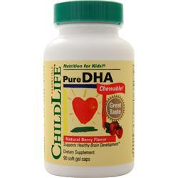Childlife Pure DHA Chewable Natural Berry 90 sgels - FLJ CORPORATIONS