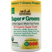 Country Farms Super Greens - Certified Organic Whole Food Formula Delicious Apple Banana 300 grams - FLJ CORPORATIONS