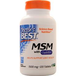 Doctor's Best MSM with OptiMSM (1500mg) 120 tabs - FLJ CORPORATIONS