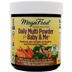 Megafood Baby & Me - Daily Multi Powder 5.33 oz - FLJ CORPORATIONS