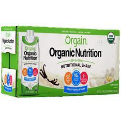 Orgain Organic Nutrition All-In-One Nutritional Shake RTD Sweet Vanilla Bean 12 pack - FLJ CORPORATIONS