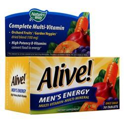Nature's Way Alive! Men's Energy Multivitamin - Multimineral Caffeine Free 50 tabs - FLJ CORPORATIONS