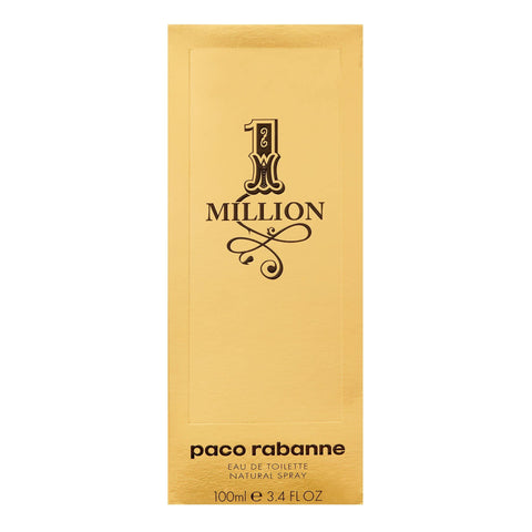 ($90 Value) Paco Rabanne 1 Million Eau De Toilette Spray, Cologne for Men, 3.4 Oz - FLJ CORPORATIONS