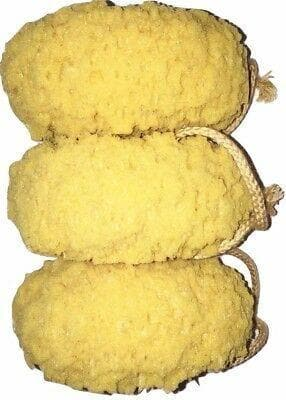 Natural Sea Sponge Foam Bath Pack of 3 Natural Feeling Smoother Skin Exfoliating - FLJ CORPORATIONS