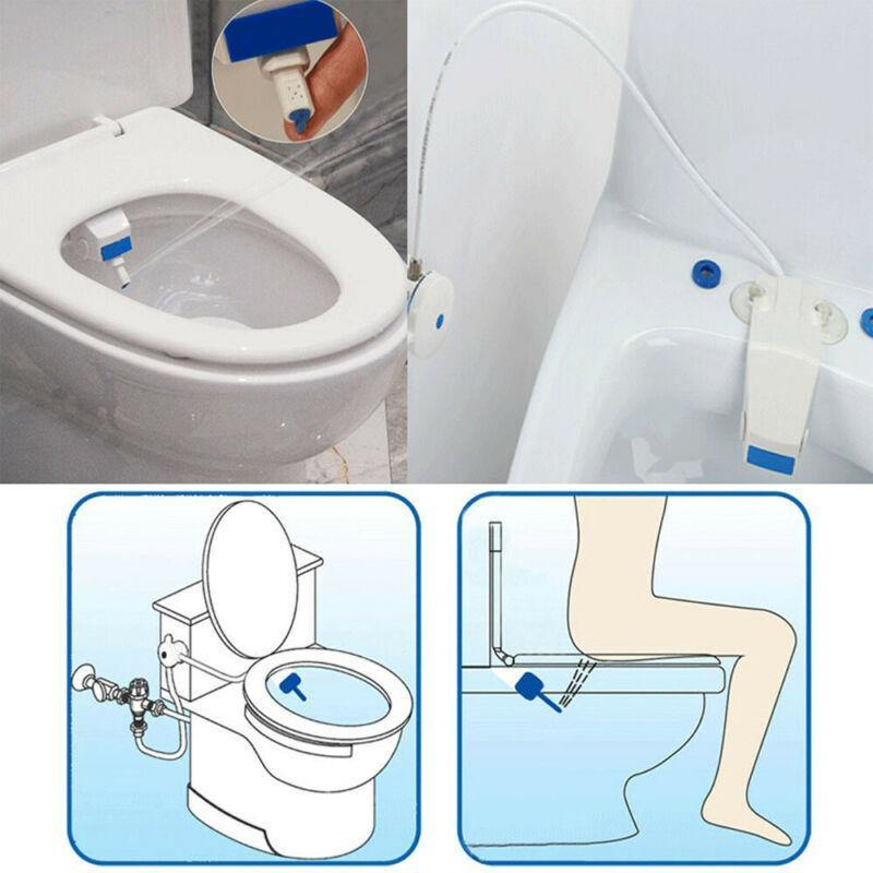 Toilet Seat Bidet Set Bathroom Bidet Toilet Fresh Water Spray Clean Seat Non-Electric Kit Attachment Bathroom Bidet Sprayer Free Shipping