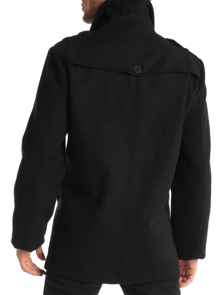 Swiss Jake Mens Pea Coat - FLJ CORPORATIONS
