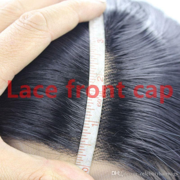 Long straight natural looking hair glueless lace front wig full hair lace wig for african americans woman12-26inch heat resistant - FLJ CORPORATIONS
