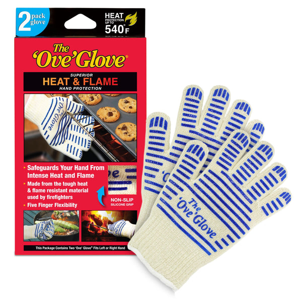 The 'Ove' Glove, Superior Hand Protection from Heat & Flames, As Seen on TV - 2 Pack Authentic Ove Glove - FLJ CORPORATIONS
