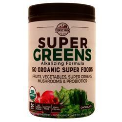 Country Farms Super Greens - Alkalizing Formula Chocolate 300 grams - FLJ CORPORATIONS