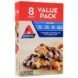 Atkins Snack Bar Caramel Chocolate Nut Roll 8 bars - FLJ CORPORATIONS