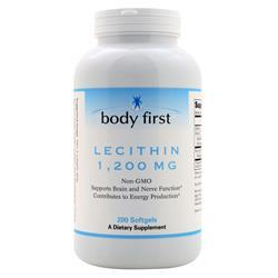 Body First Lecithin (1200mg) - Non-GMO 200 sgels - FLJ CORPORATIONS