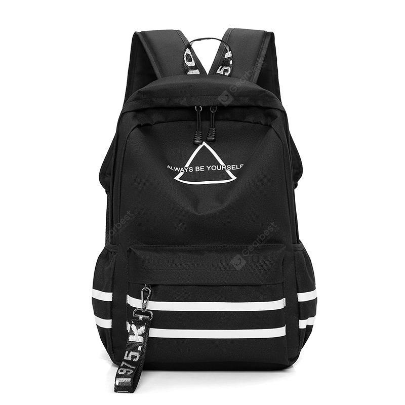 Simple Printed Nylon Sports Backpack - FLJ CORPORATIONS