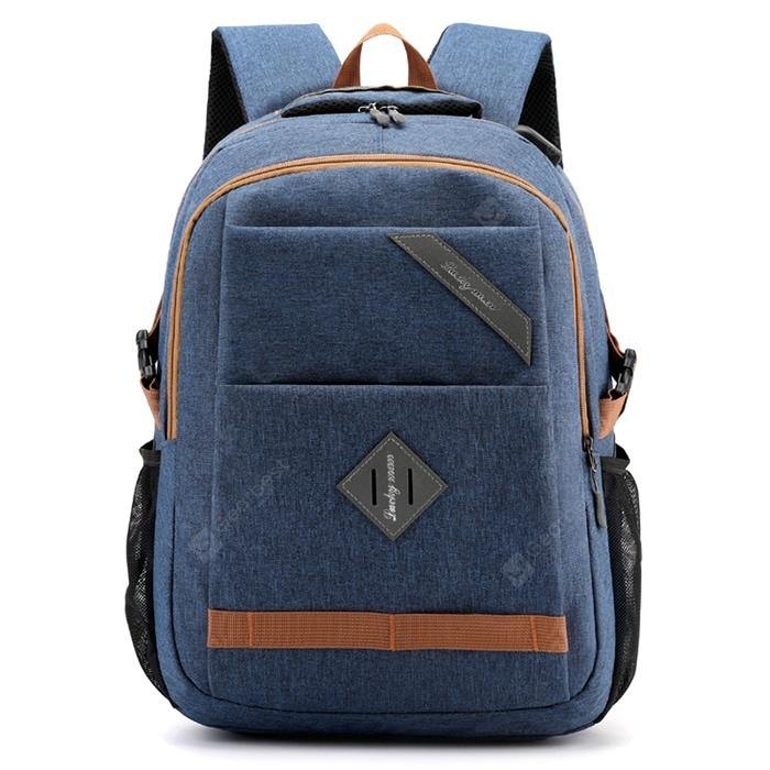 Men's Large Capacity Backpack USB Rechargeable