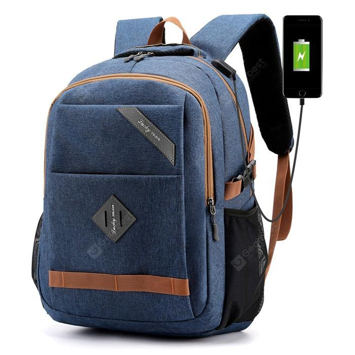 Men's Large Capacity Backpack USB Rechargeable - FLJ CORPORATIONS