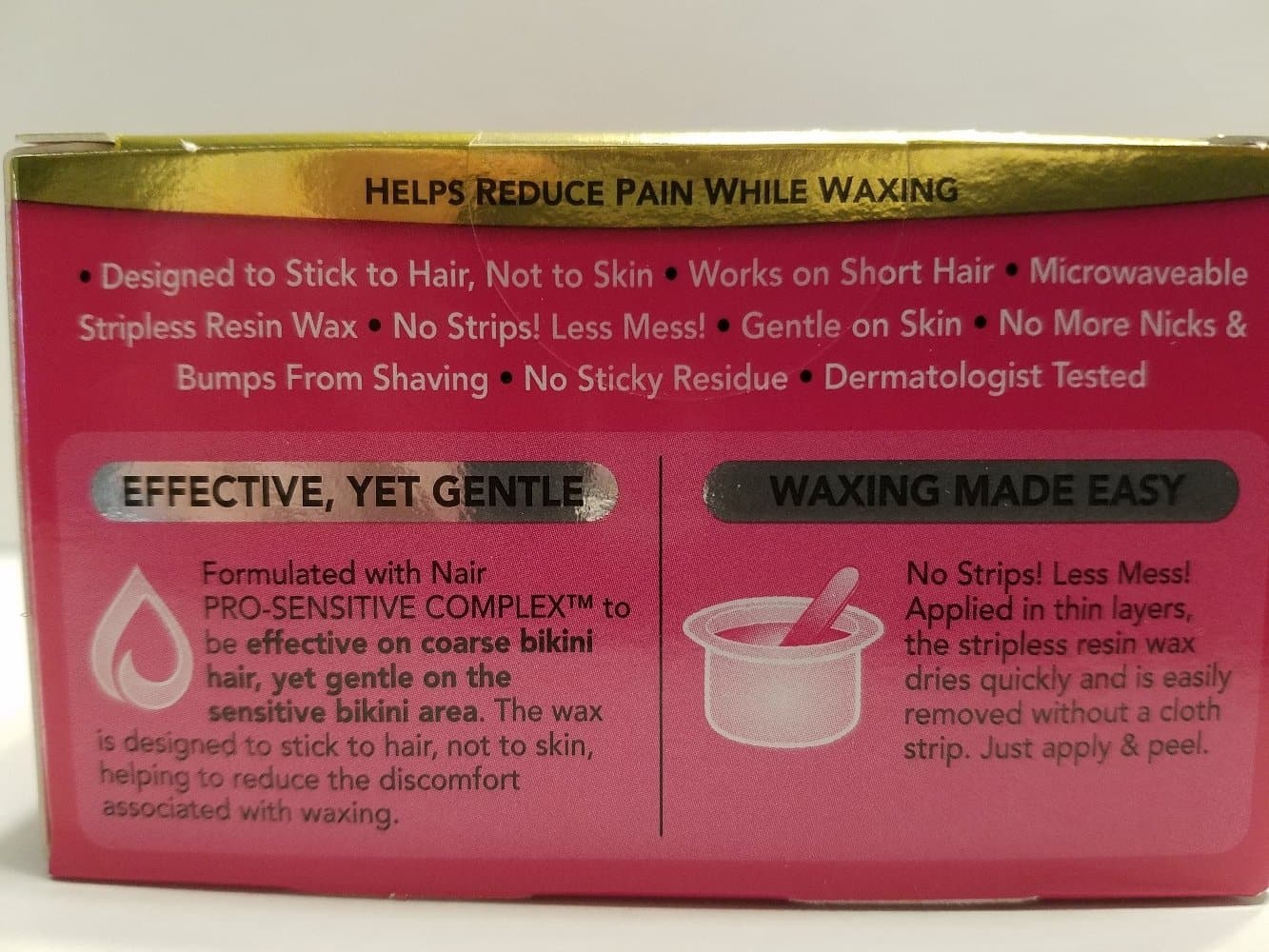 Nair Wax Bikini Pro Microwaveable Stripless Sensitive Wax Hair Remover 3.5 Oz - FLJ CORPORATIONS