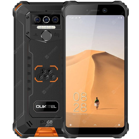 OUKITEL WP5 4G Smartphone 8000mAh Battery 5.5 inch 3 Rear Camera Android 9.0 IP68 & IP69 Waterproof Global Version - FLJ CORPORATIONS