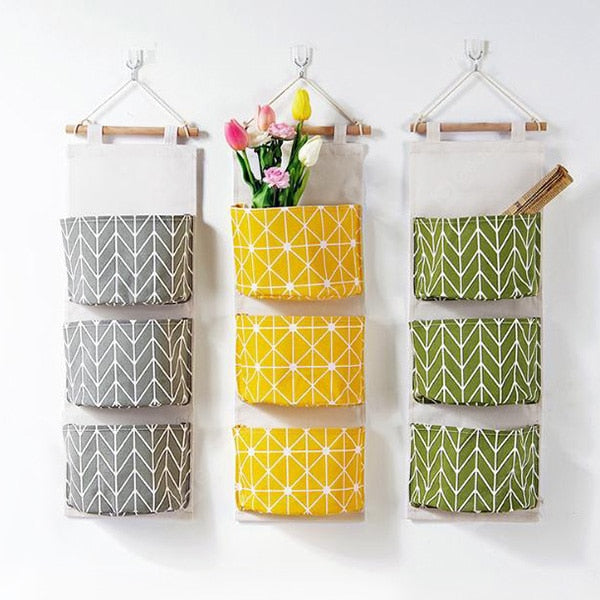 Home Wall Hanging Storage Bag Dormitory Bedroom Closet with Cute Printing Pattern - FLJ CORPORATIONS