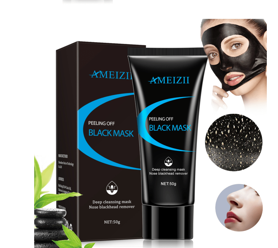 Black mud cleansing mask facial exfoliation acne blackhead deep cleansing moisturizing skin care - FLJ CORPORATIONS