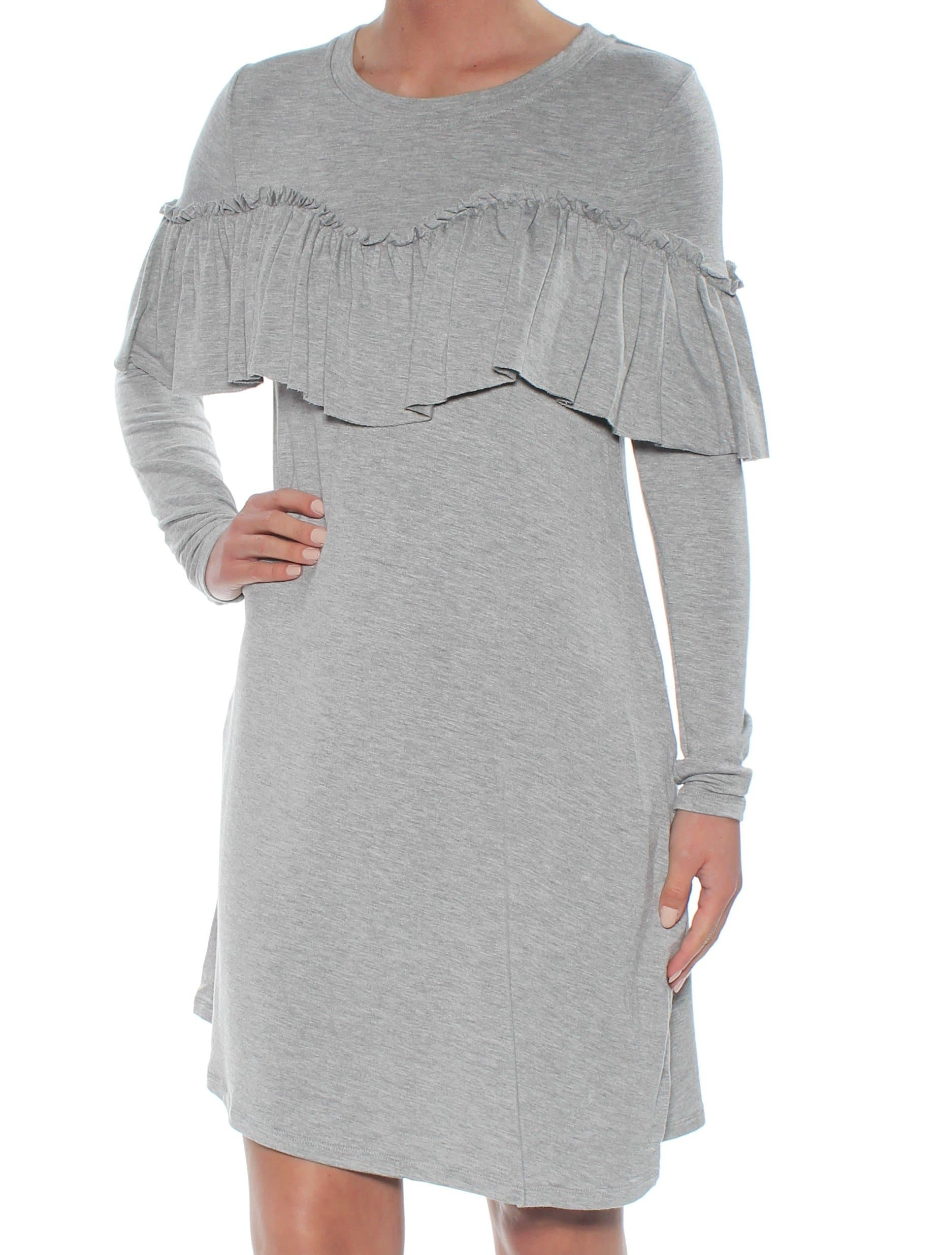 Gray Ruffled Long Sleeve Jumpsuit - FLJ CORPORATIONS