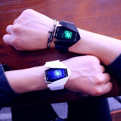 South Korea ulzzang luminous LED Harajuku trend student fashion multifunctional electronic watch sports men and women lovers - FLJ CORPORATIONS