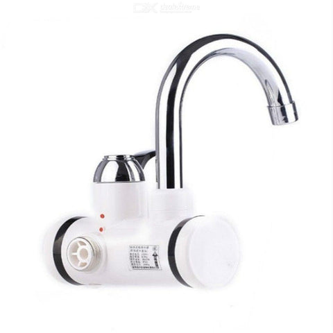 Electric Water Heater Faucet Hot Water Dispenser With LED Digital Display Under Inflow EU Plug