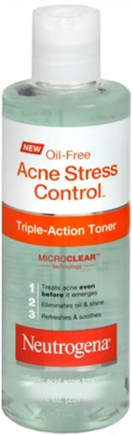Neutrogena Oil-Free Acne Stress Control Triple Action Toner 8 oz (Pack of 2) - FLJ CORPORATIONS