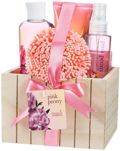 Pink Peony Spa Bath Gift Set Box - FLJ CORPORATIONS