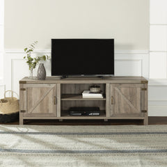 Manor Park Modern Farmhouse Barn Door TV Stand for TVs up to 78