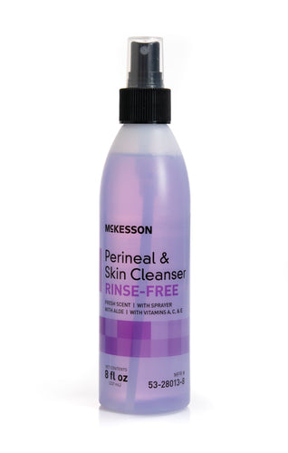 McKesson Brand Rinse-Free Perineal Wash McKesson Liquid 8 oz. Pump Bottle Fresh Scent Each of 1 - FLJ CORPORATIONS