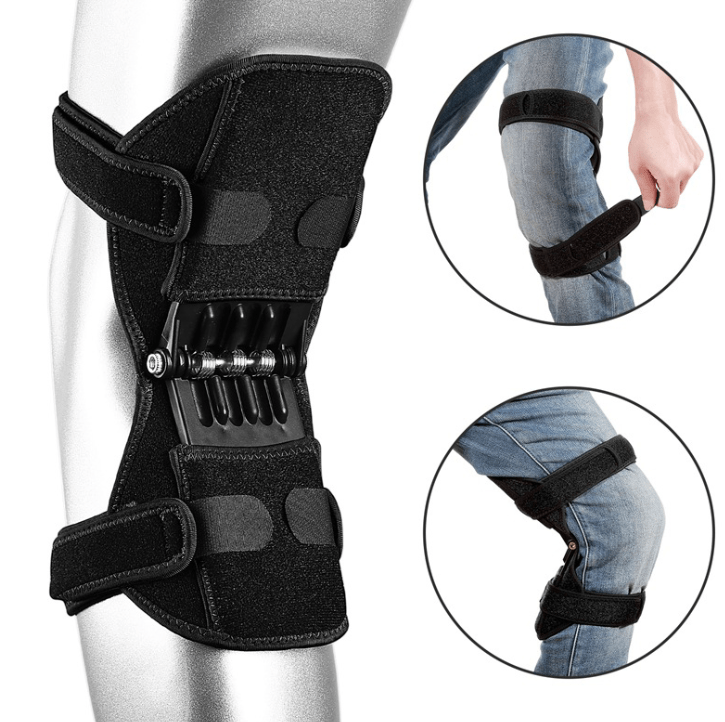 Joint Support Knee Pads Breathable Non-Slip Power Lift Joint Knee Pads Powerful Rebound Spring Force Knee Booster Leg Protector - FLJ CORPORATIONS