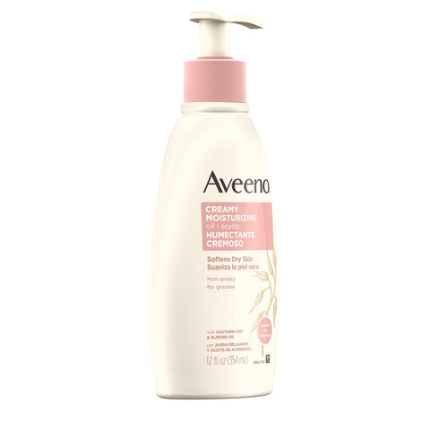 Aveeno Non-Greasy Creamy Moisturizing Body Oil for Dry Skin, 12 fl. oz - FLJ CORPORATIONS