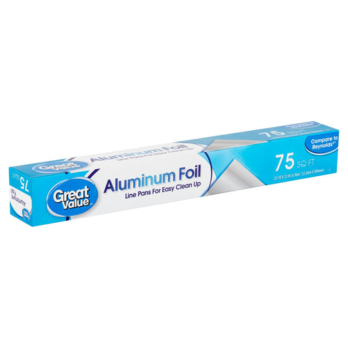 Great Value 75 sq ft Aluminum Foil - FLJ CORPORATIONS