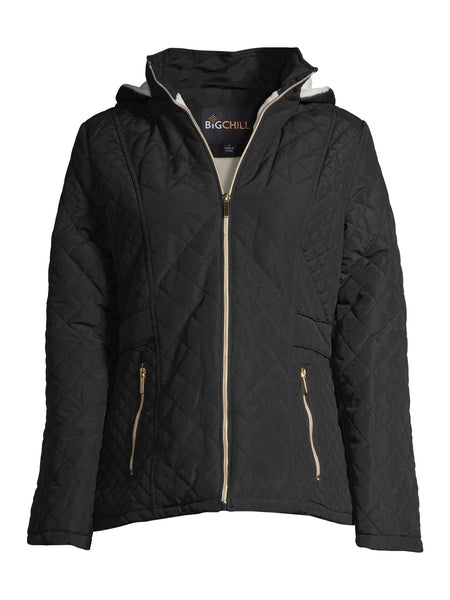 Hooded Diamond Quilted Jacket - FLJ CORPORATIONS