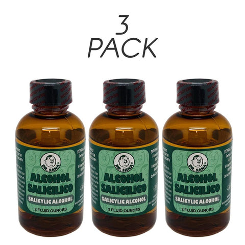 Dr Sana 5% Salicylic Alcohol. Acne, Warts, Ringworm and Psoriasis Treatment. Skin Toner and Cleanser. 2 Oz. Pack of 3 - FLJ CORPORATIONS