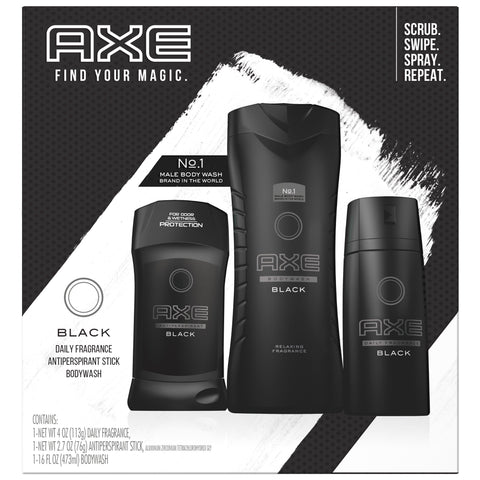 AXE Regimen Gift Set for Men Black 3 pc - FLJ CORPORATIONS