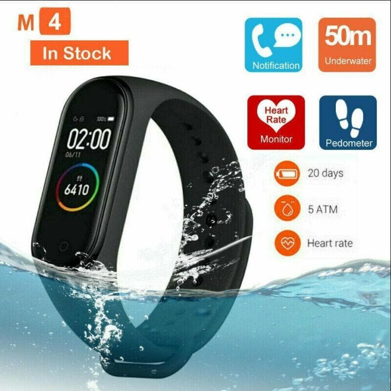 M4 Smart band 4 Real Heart Rate Blood Pressure Wristbands Sport Smartwatch Monitor Health Fitness Tracker smart Watch Wristband PK M3 - FLJ CORPORATIONS