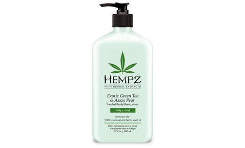 Hempz Exotic Green Tea & Asian Pear Herbal Body Moisturizer ? 17 oz. - FLJ CORPORATIONS